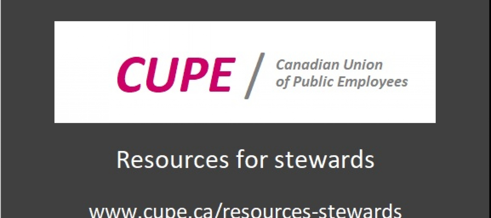 Resources for Stewards