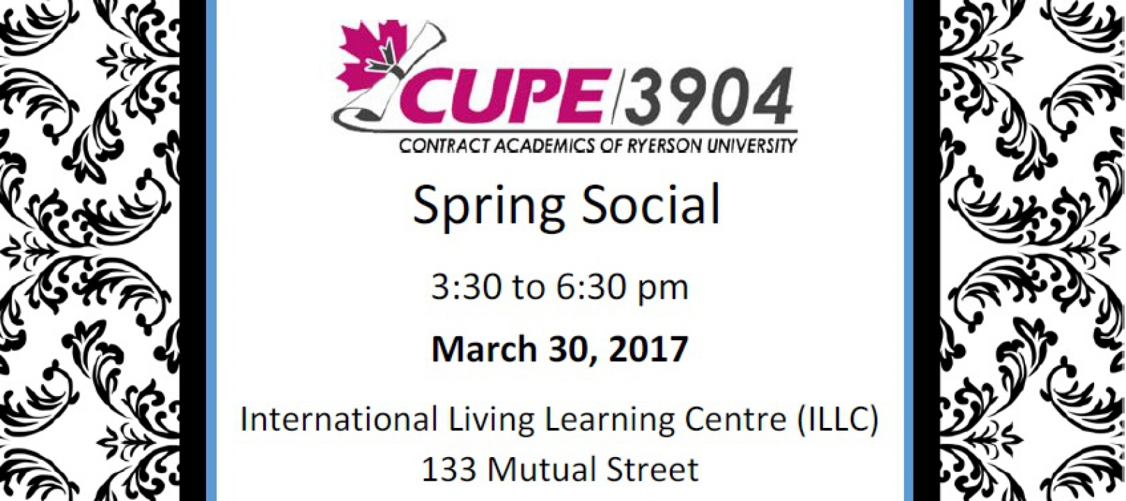 CUPE 3904 Spring Social (March 30, 2017)