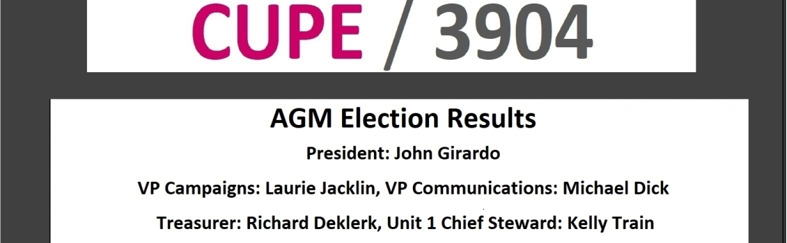 CUPE 3904 Meetings