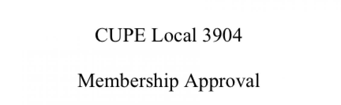 CUPE 3904 Bylaws